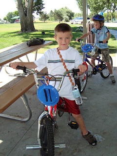 Bicycle Theme Birthday Party - Like the idea of a police officer visit