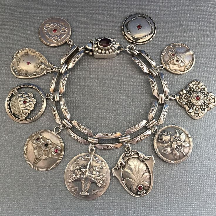 eCharmony Charm Bracelet Collection - Art Deco & Art Nouveau Charms