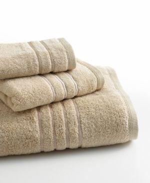 """Lenox Bath Towels, Platinum Solid 18"""" x 30"""" Hand Towel - Tan/Beige"""