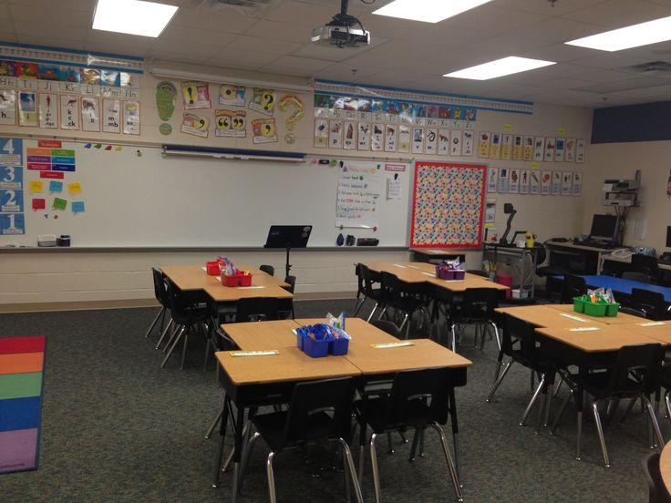 Classroom Decoration Desk Arrangements : Desk arrangement classroom pinterest school