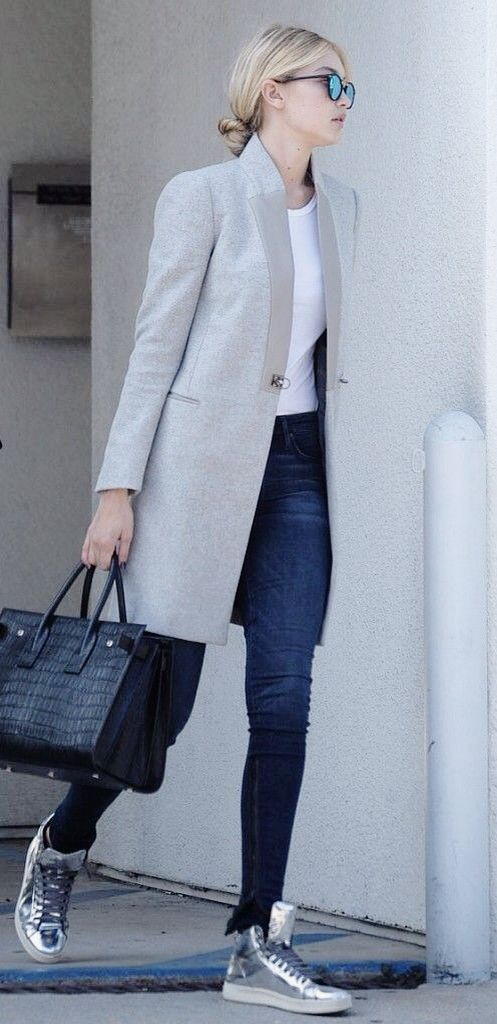 Working the silver high top sneakers, whilst keeping casual and on point! - excuse me and yes please Tx