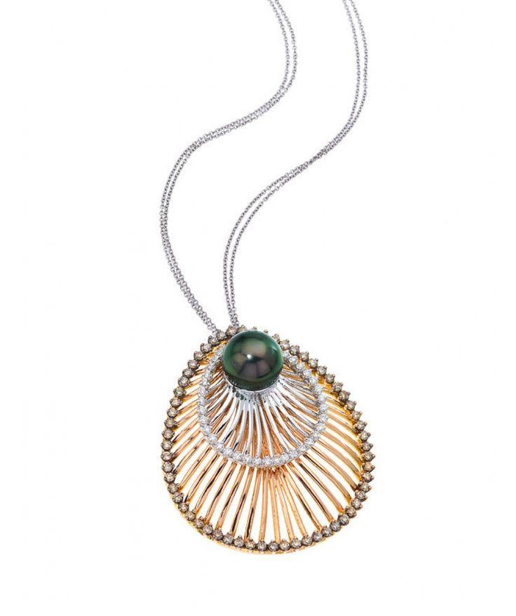 18kt Gold Sistina Teardrop Large Pendant - Pearl Pendants - Pendants - Jewellery & Gifts