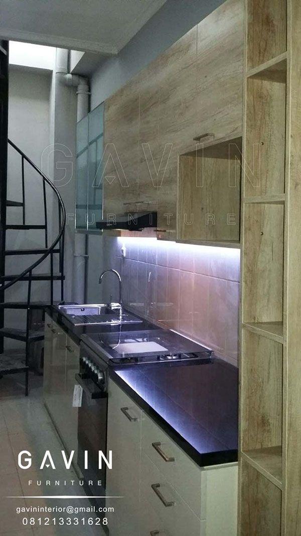 jual kitchen set serat kayu finishing HPL TH122FC kombinasi HPL supreme glossy Q2668