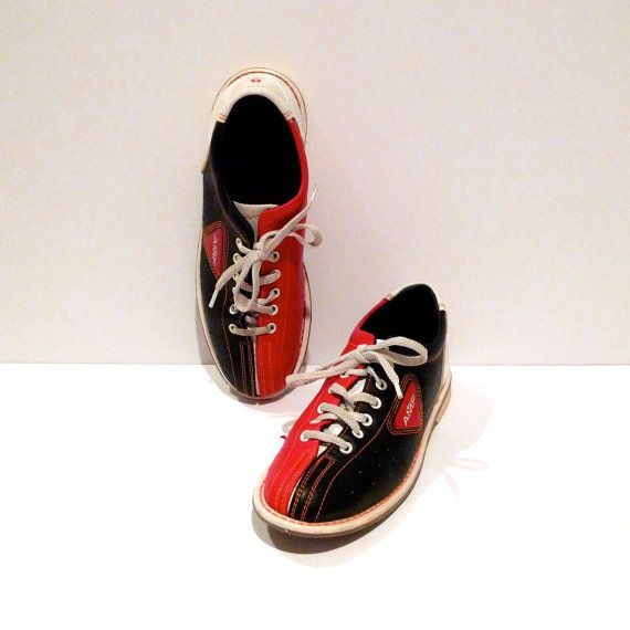Bowling Shoes Vintage AMF Red White and Blue Color Block Flats Leather  Rockabilly Shoes Size Womens 8 Mens 6.5 Fourth of July Patriotic