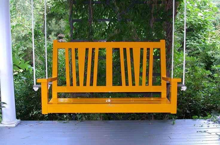 Yellow Modern Porch Swings ~ http://www.lookmyhomes.com/modern-porch-swings-ideas/