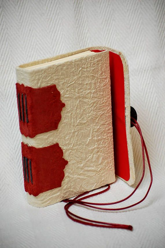 ***Red Leather Diary, leather bound with embossed details and a rustic feel with very strong handmade japanese paper for cover, a6 (6*4in) for convenience, suitable for prayer journaling, as a gratitude or mindfulness journal*** ***100% hand folded, hand sewn and handbound!*** Size: