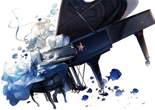 piano, anime, and anime girl εικόνα