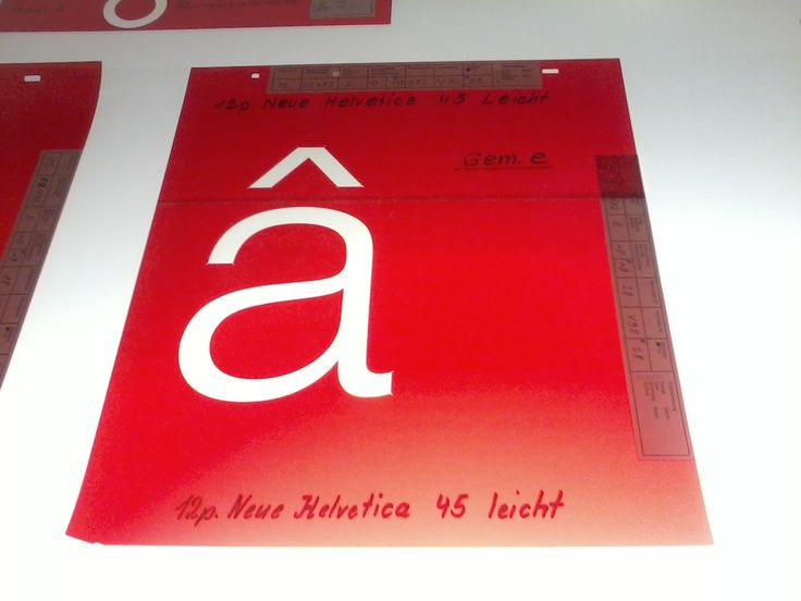 Rubylith masters of Helvetica
