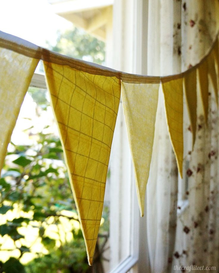 yellow baby shower themes   Yellow Bunting   Baby Shower Ideas