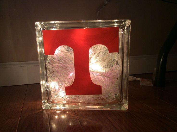 Man Cave Gifts Adelaide : University of tennessee lighted glass deco block