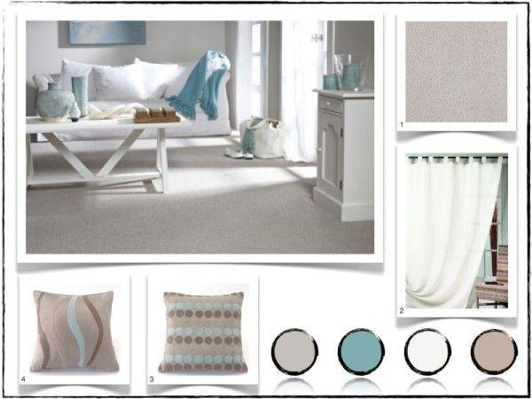 Salon Bleu Ciel Et Blanc , Artantis