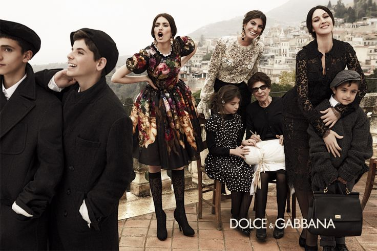#dolcegabbana women's FW13: Bianca Balti, Monica Blelucci and Bianca Brandolini D'Adda create a convivial atmosphere captured by Giampaolo Sgura's lense