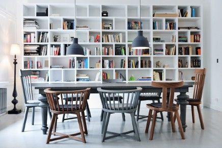 op maat gemaakte boekenkast woonkamer-loft