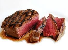 1 steak the size of a deck of cards (1 serving)