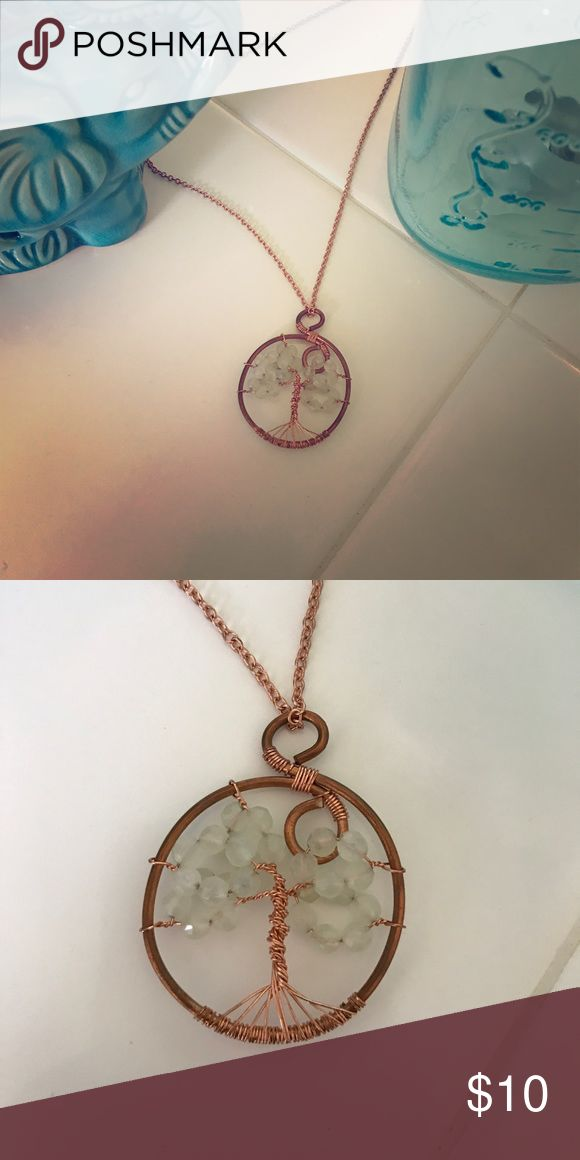 Tree of Life rose gold toned necklace  Amazing handmade Tree of Life necklace !!  On rose gold toned chain!!! So beautiful and meaningful!!!  Jewelry Necklaces