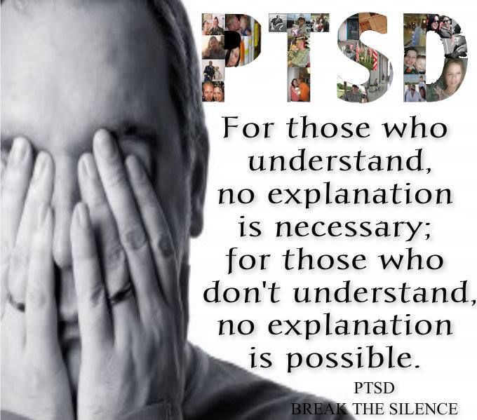 Explaining PTSD is impossible.Best PIN EVER,  plain and simple no one can understand and I am ok with that.