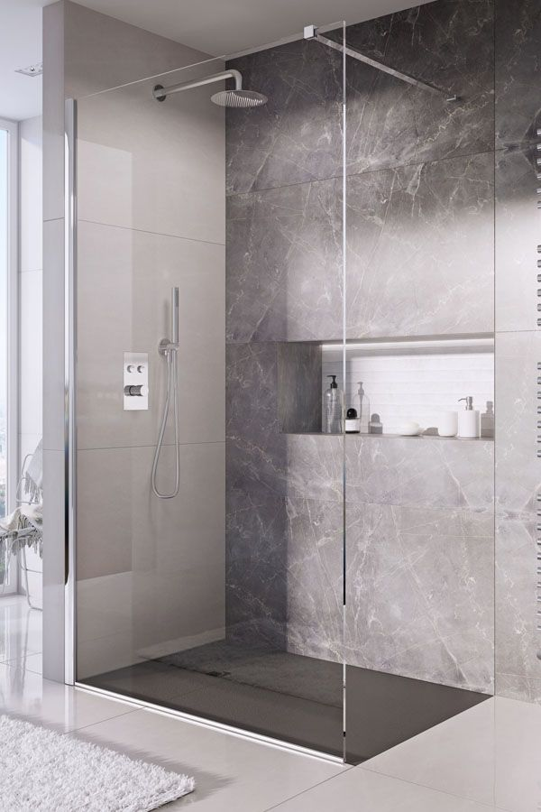 Our Peoria Black Shower Trays Have A Stunning Slate Effect That S Perfect For A Subtle Touch Of Black In The Bathr Small Shower Remodel