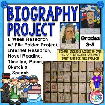 2017 Jan. UPDATE!  4 more webpages of famous people for students to use were added!  There are now 143 web pages for students to use when doing research.   The link to my website is included in the set. Students take charge of their own learning with this independent and motivating biography project.