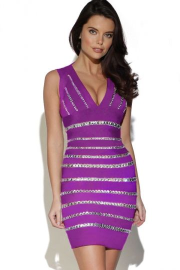 Crystals Embellished Purple #Bandage Dress.#Women's Fashion #Dresses #Cute #Casual,Teens #Cheap #Sexy Dresses To Wear To A Wedding Website Online,short #Dresses2015. http://pinkqueen.com/Crystals-Embellished-Purple-Bandage-Dress-g21856