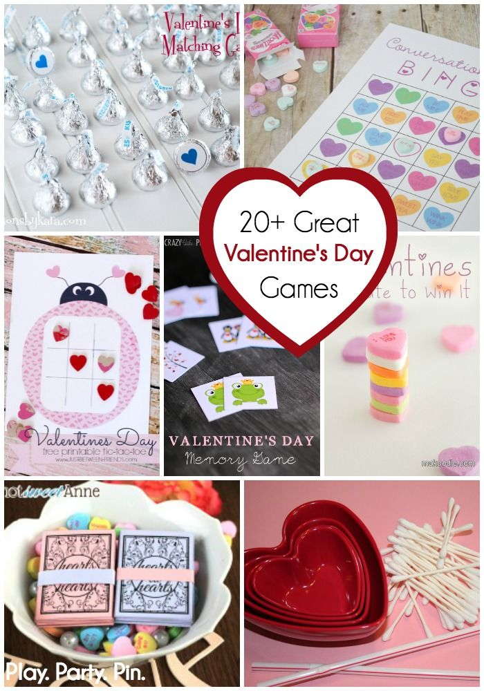 20 of the best Valentine's day games including Valentine's day classroom party games, Valentine's day games for kids, and printable Valentine's day games!
