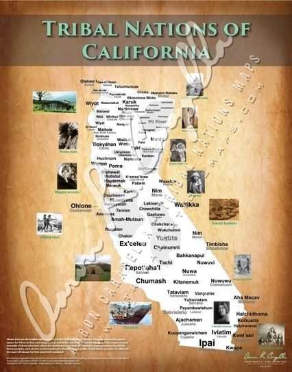 """Tribal+Nations+of+California+-+22""""x28"""""""