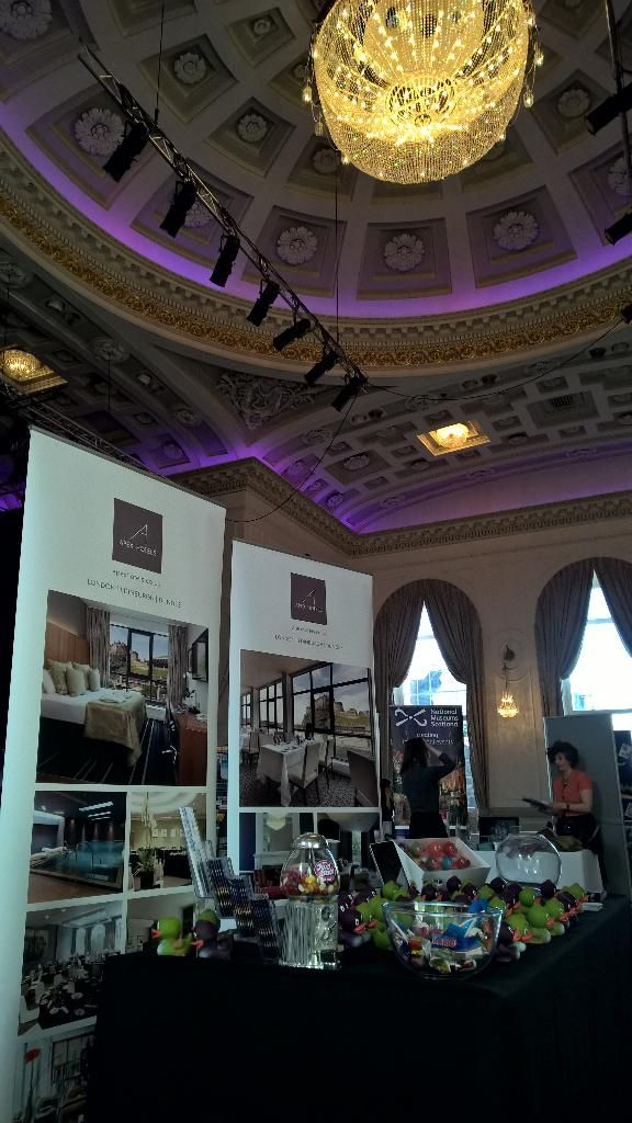 Exhibitions and trade shows at Assembly Rooms Edinburgh - this is the set up for the #EdTourismShowcase with @ETAG_UK