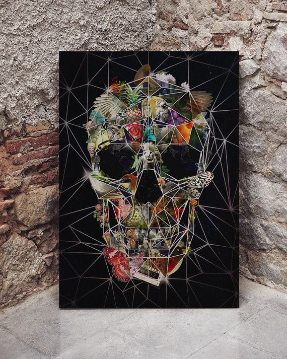 Fragile Skull Wood Print by ikiikishop on Etsy