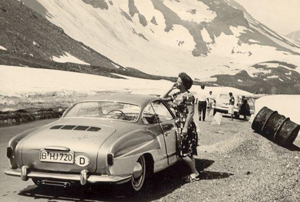 Großglockner Hochalpenstraße. Das 'Mindestentgeld für ein Personenauto' bzw. die Mautgebühr betrug 1962 75 Schilling.  Flohmarktfund
