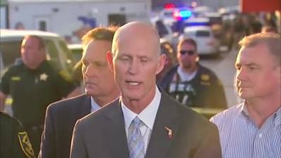 Florida Gov. Rick Scott holds a press conference on today's deadly shooting at Fort Lauderdale-Hollywood International Airport.