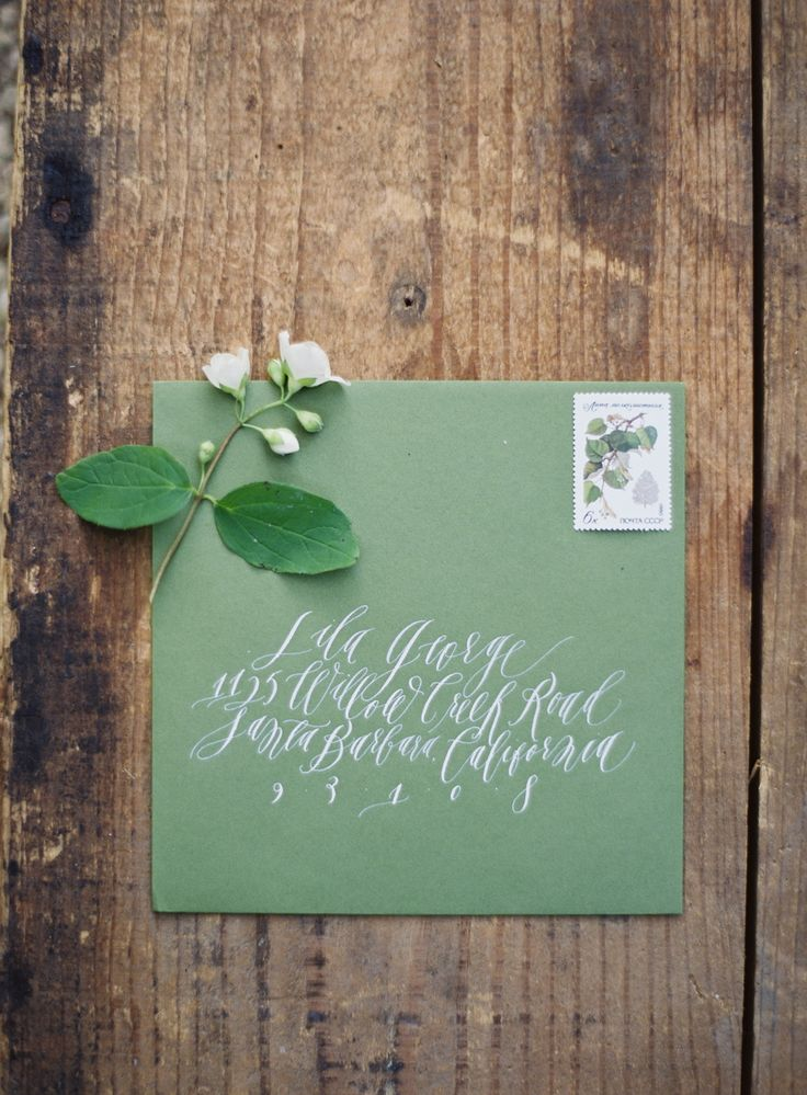 handwrite or print wedding invitation envelopes%0A Calligraphy and handpainted design by Feast Fine Art  u     Calligraphy