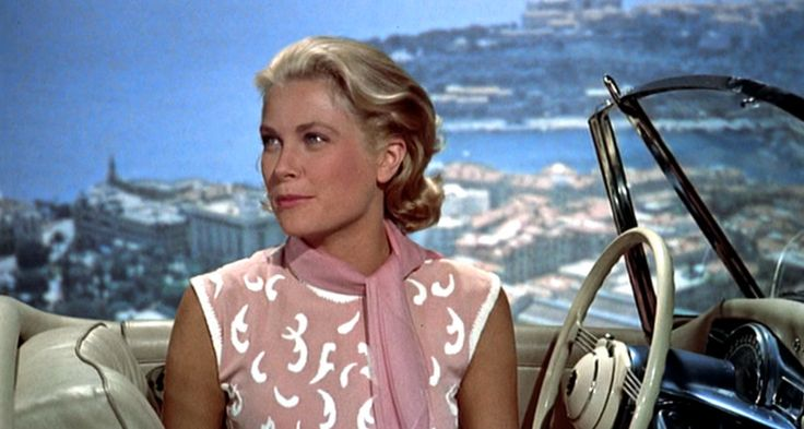 To Catch a Thief_Grace Kelly_Coral top_mid scarf