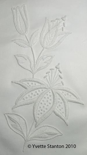 Mountmellick embroidery lily
