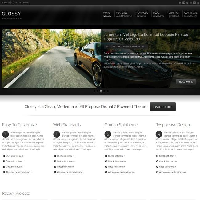 Glossy – Modern Drupal Theme