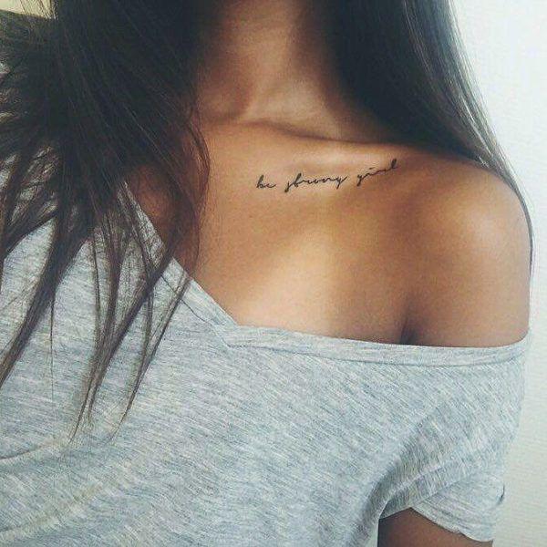 Tatuajes En La Clavicula Para Mujer