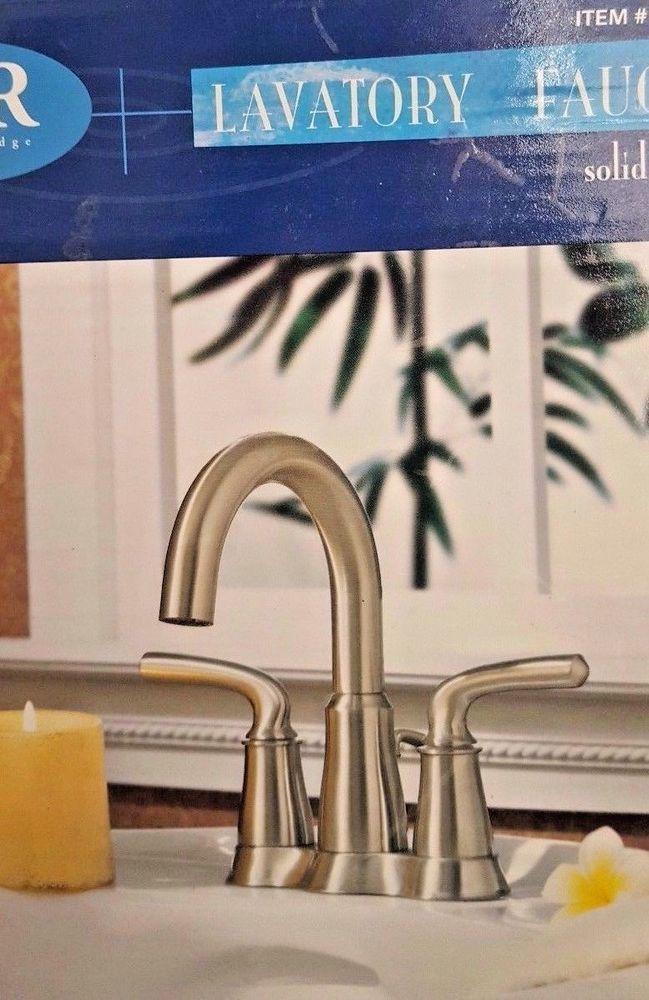 Water Ridge Lavatory Faucet Solid Brass Brush Nickel Finish High