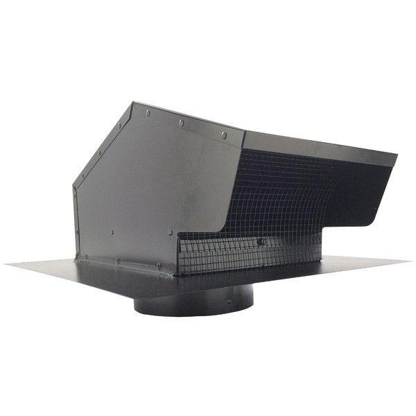 """Builders Best 012633 Black Metal Roof Vent Cap (6"""" Collar)"""