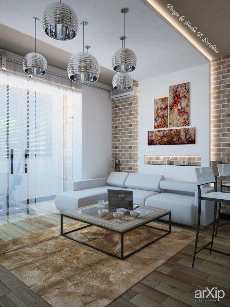 Строгость мужского характера: интерьер, квартира, дом, лофт, 20 - 30 м2, зал #interiordesign #apartment #house #loft #20_30m2 #hall arXip.com