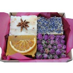 This beautifully intriguing box of naturally Organic Soap looks good, smells great and contains nothing but natural ingredients.