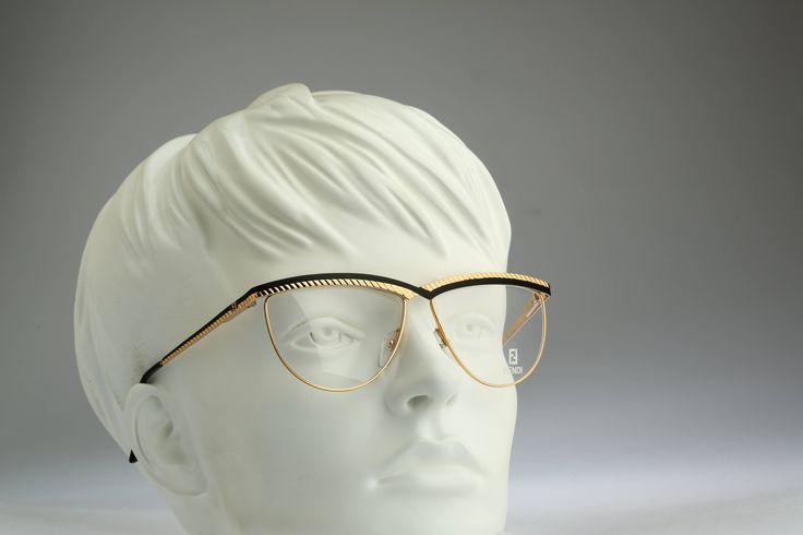 Fendi  FV 176 Col 529 / Vintage eyeglasses and sunglasses / NOS / 90s Designer eyewear by CarettaVintage on Etsy