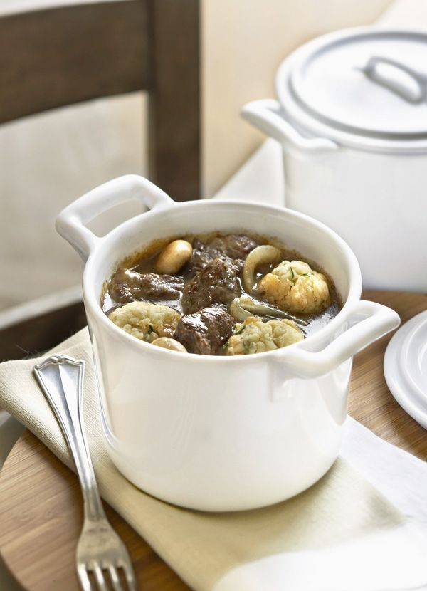 Ale-lovers won't be able to get enough of this dish. Slow cooked braising beef, brown ale, button mushrooms with a side of firery horseradish dumplings is the perfect treat on a cold day, and can be prepared well in advance.