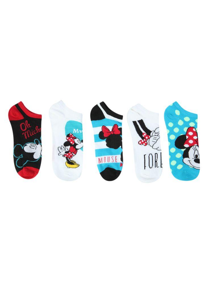 Disney Minnie Mouse No-Show Socks  ($15, set of five)