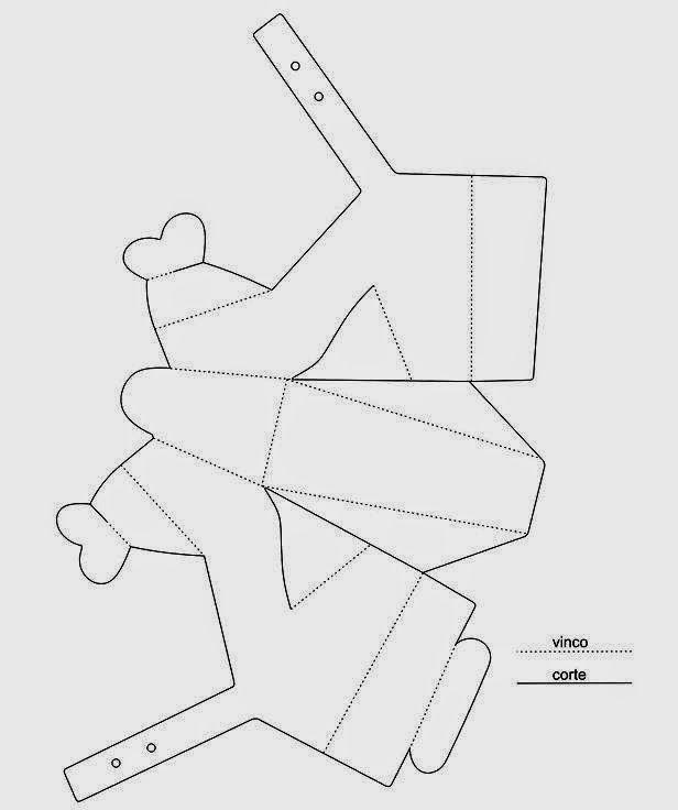 Imprima el molde Pase a una cartulina o cartoncillo Recorte: Las líneas punteadas sólo van dobladas; en las líneas seguidas se recorta. Pegue: en la parte del tacón, sobreponga una pieza sobre la otra. En la parte del talón, haga lo mismo. En el frente, inserte una parte de la flor entro de la otra. Puede adornar a su gusto: utilice líneas de perlas o cuentas de bisutería alrededor, se puede utilizar diamantina, se puede usar lentejuelas, espiguilla, galón (dorado, plataeado o de cualquier…