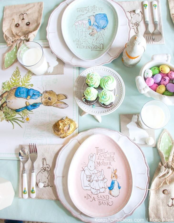 Spring Easter Party with Peter Rabbit and Friends via Kara's Party Ideas   KarasPartyIdeas.com Pottery Barn Kids