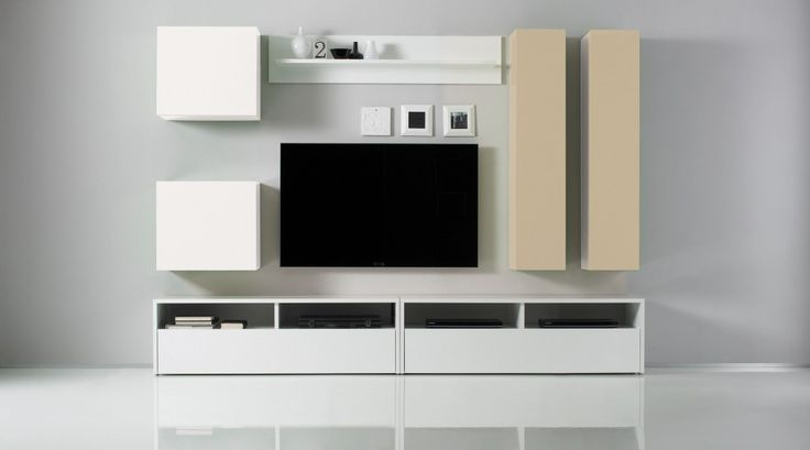 You can choos the colors! Box Wall Unit Composition 4 by LC Mobili, Italy | SohoMod.com