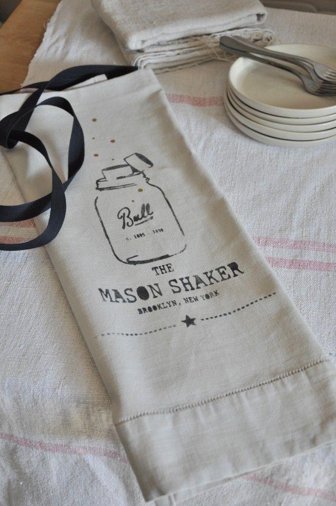 "Tablier ""Mason Shaker"" Beige - smile-shop.fr"
