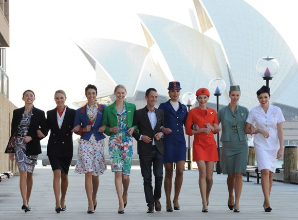 Qantas Uniforms - that was me, second from the left!