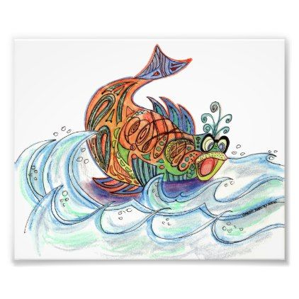 Fish out of Water Photo Print - red gifts color style cyo diy personalize unique