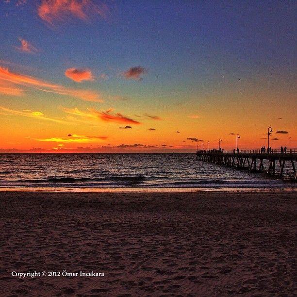 Sunset over Glenelg beach. Adelaide Australia