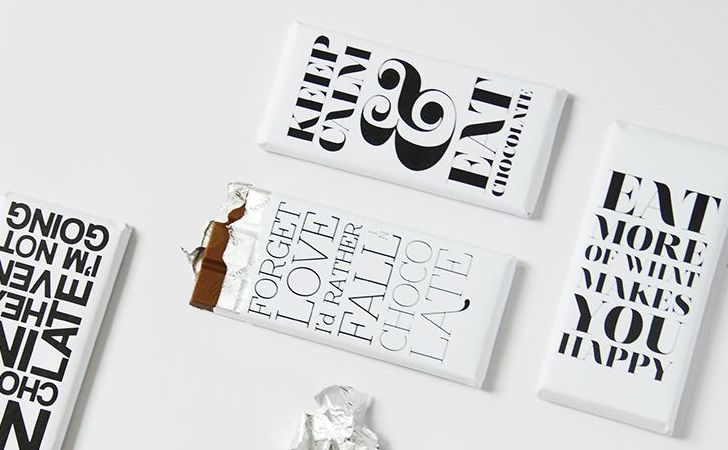 tablette chocolat a imprimer DYI : des emballages typographiques pour vos tablettes de chocolat ! Très simple parce que vous n'aurez besoin que d'une imprimante et d'un tube de colle pour le réaliser.