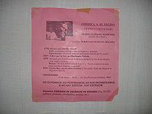 ESCRACHE, FUNA O ROCHE es el nombre dado principalmente Buenos Aires y Montevideo, a un tipo de manifestación en la que un grupo de activistas se dirige al domicilio o lugar de trabajo de alguien a quien se quiere denunciar. Tiene como fin que los reclamos se hagan conocidos a la opinión pública, pero en ocasiones también es utilizado como una forma de intimidación y acoso público, para lo cual se realizan diversas actividades generalmente violentas.